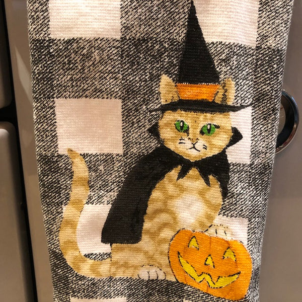 Trick or Treat Cat Towel