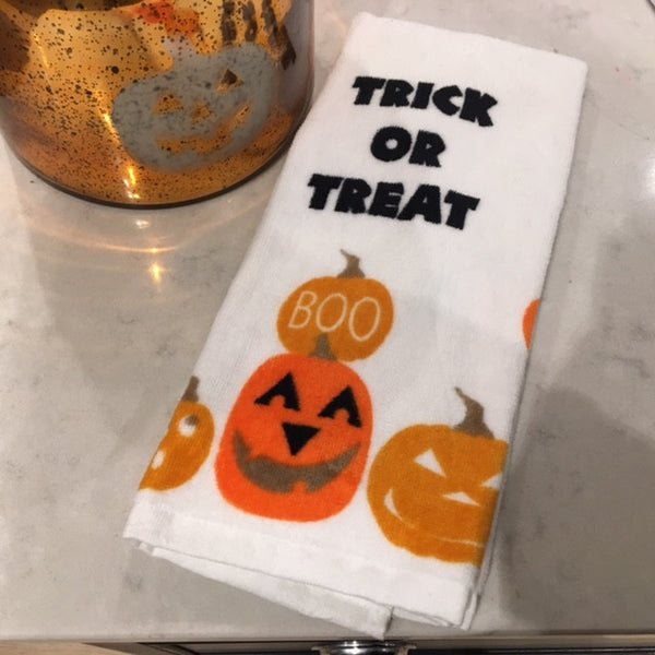 Halloween Trick or Treat Hand  Towel