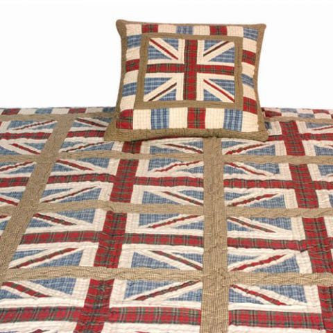 Earthy Union Jack Quilt Collection