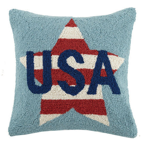 USA Star Hooked Cushion in the UK