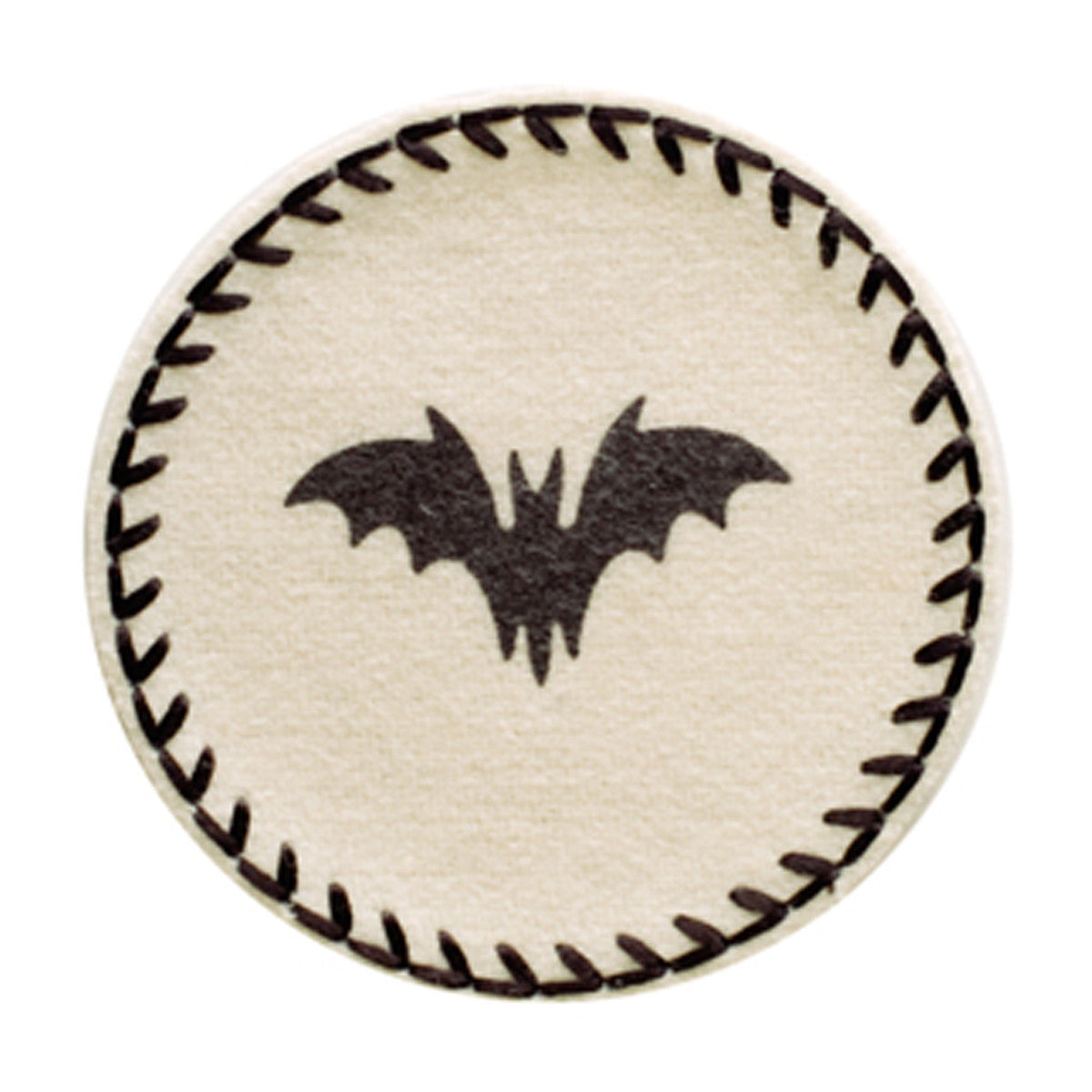 halloween bat coaster drink mats uk cream coaster with black bat
