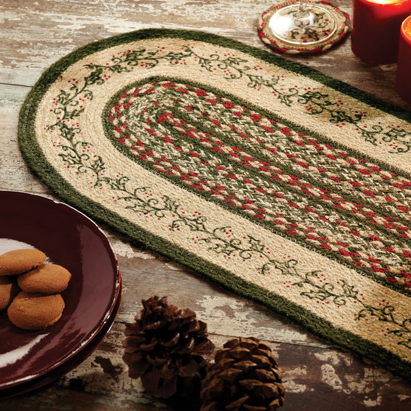 Holly Berry Jute Table Runner