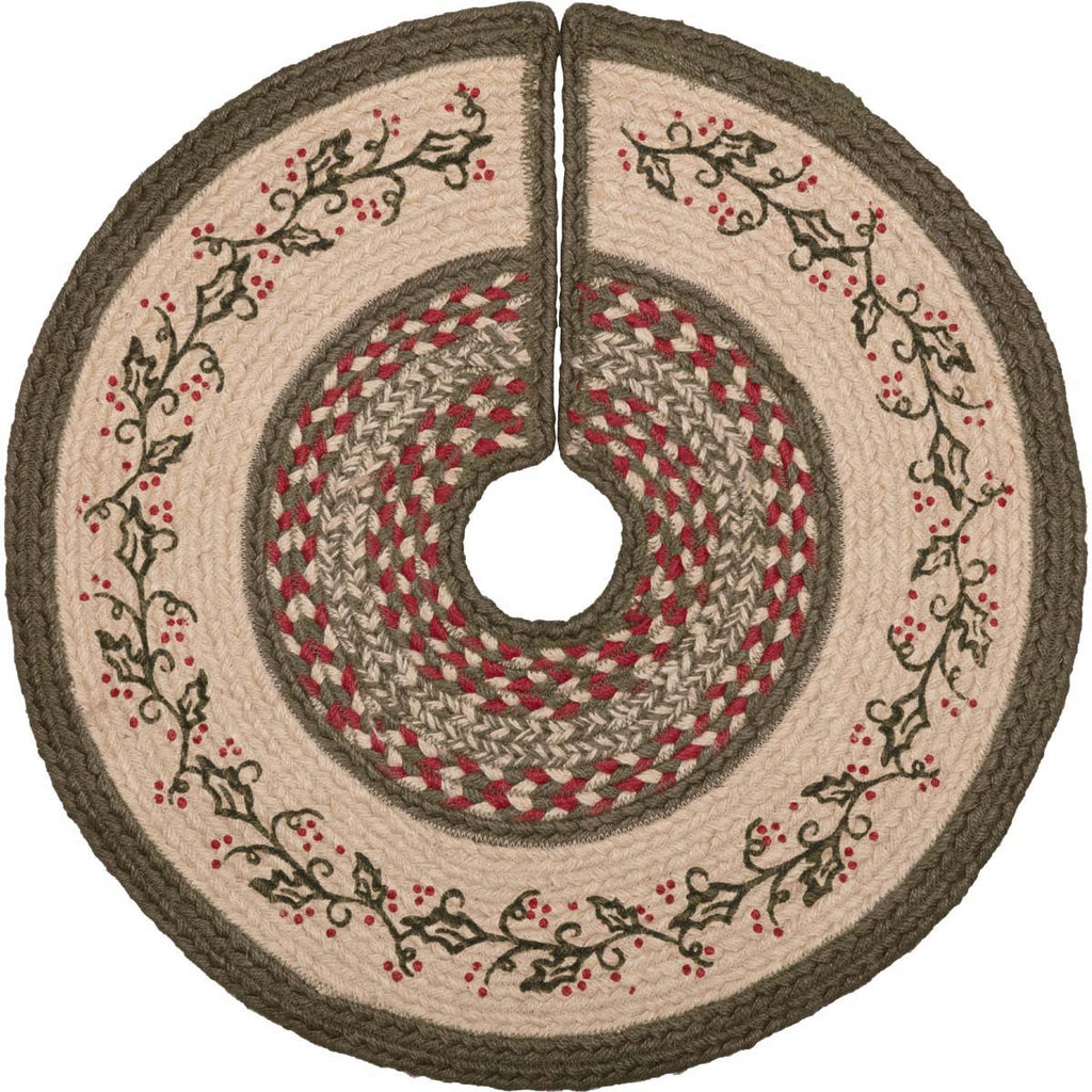 Holly Berry Jute Small Tree Skirt