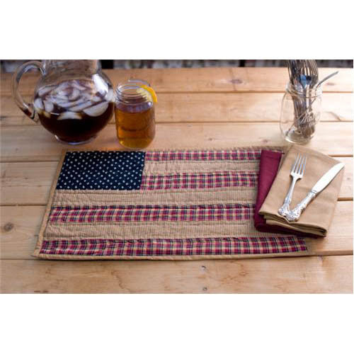 Patriotic Flag Tea Dyed Tablemat