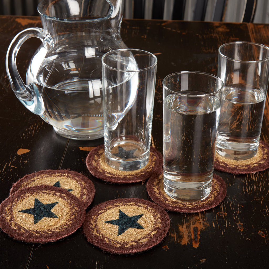 Potomac Star Jute Coaster Set of 6
