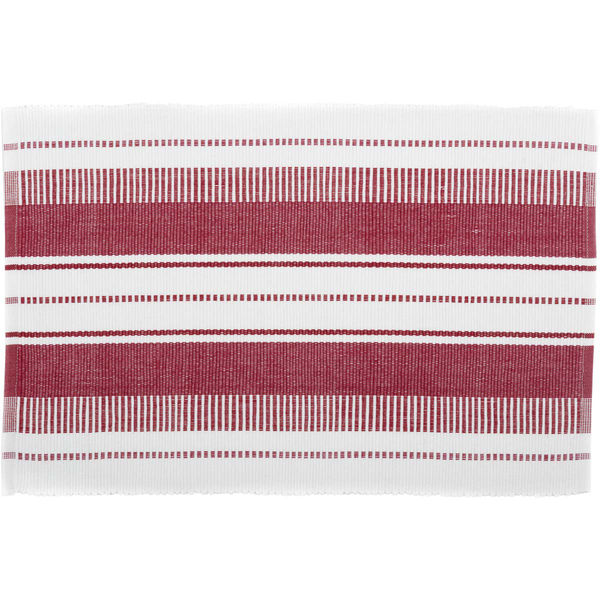 Red and White Stripes Table Mat