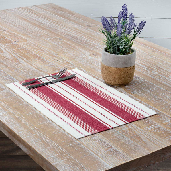 Red Striped Tablemat