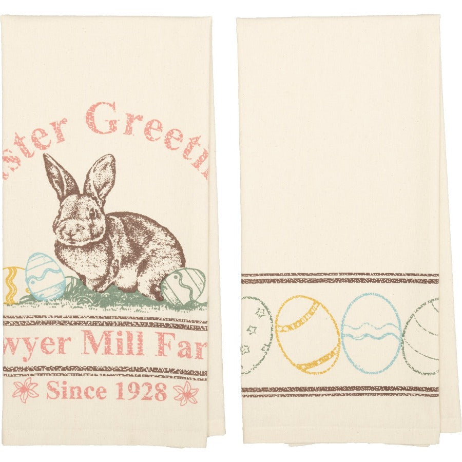 Sawyer Mill Easter Greetings Towel Set