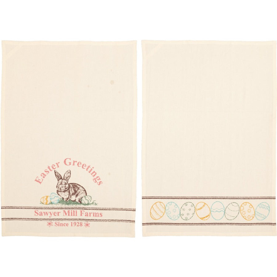 Easter Greetings Tea Towel Set