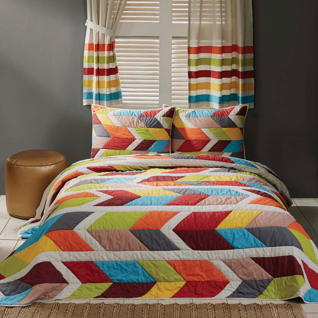 Rowan Quilted Bedspread and Pillow Shams Set