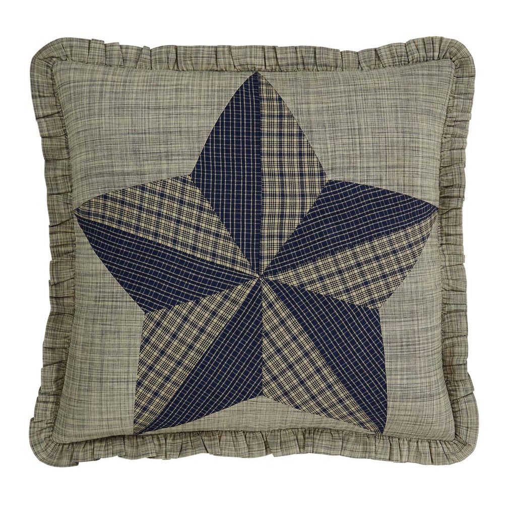 Vincent Patchwork Star Cushion with Feather Pad