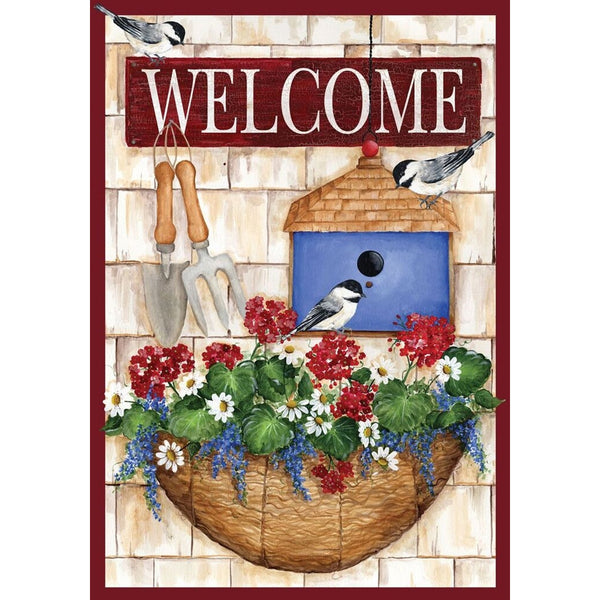 Welcome Planter and Birdhouse Garden Flags UK