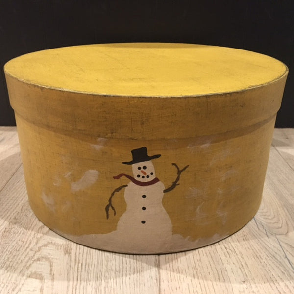 Yellow Box with Snowman