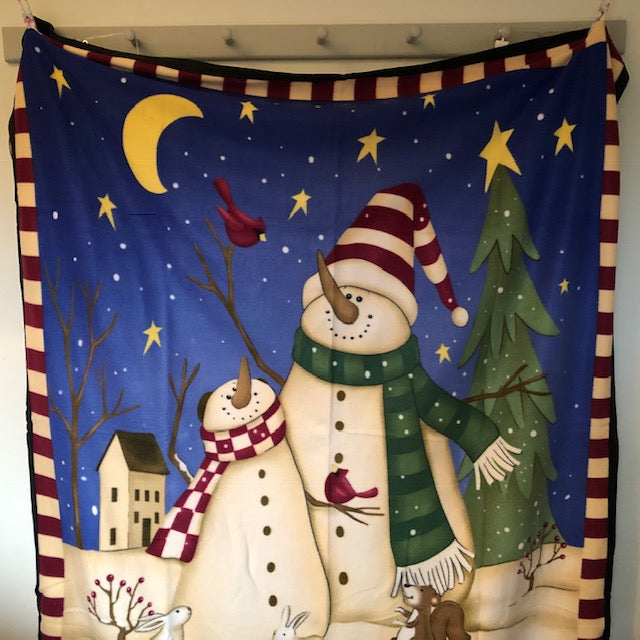 Winter Friends Snowmen Throw