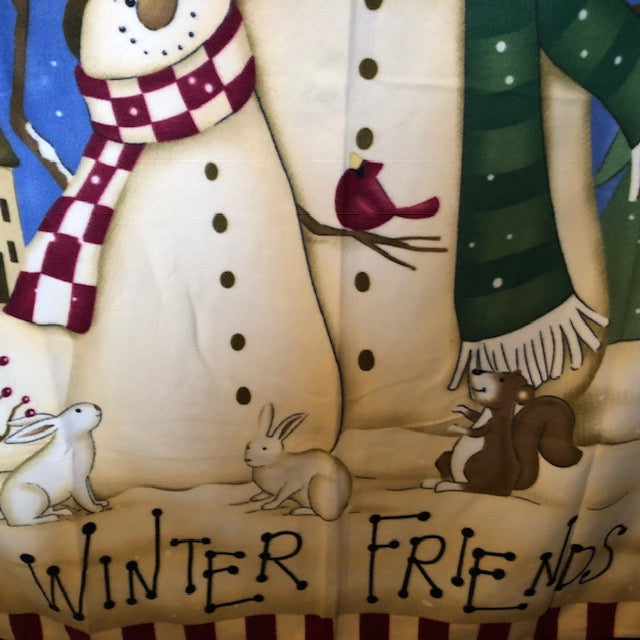 Winter Friends Fleece Throw