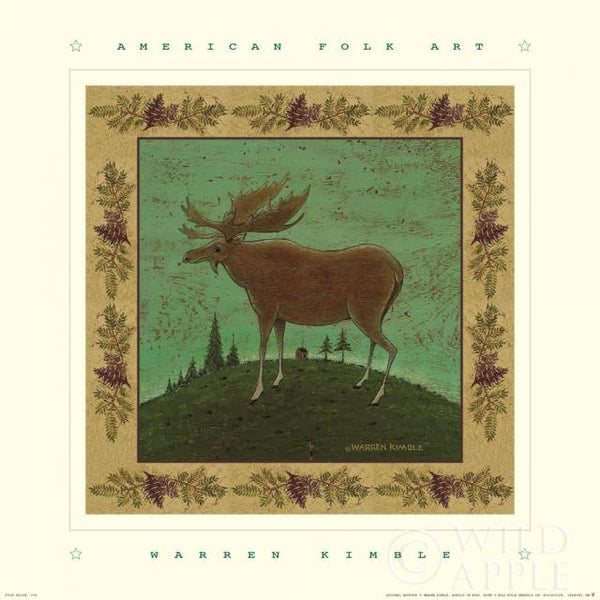 Warren Kimble Folk Moose Print