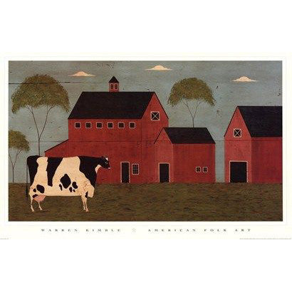 Warren Kimble Print Nellie's Barn