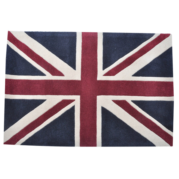 Large Vintage Union Jack Wool Rug