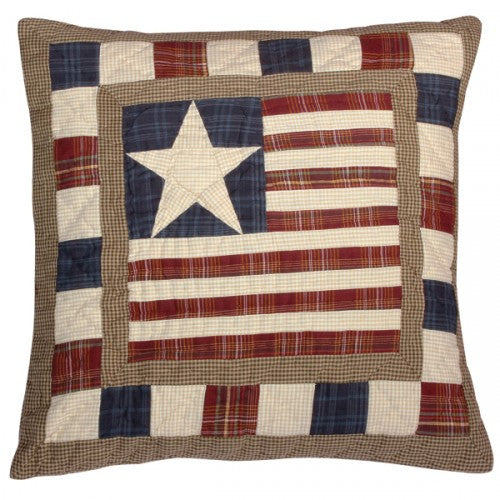 Earthy Stars and Stripes Cushion
