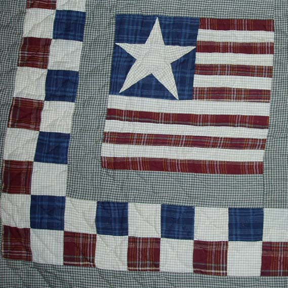 Earthy Stars and Stripes Close-up