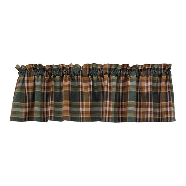 Wood River Check Valance