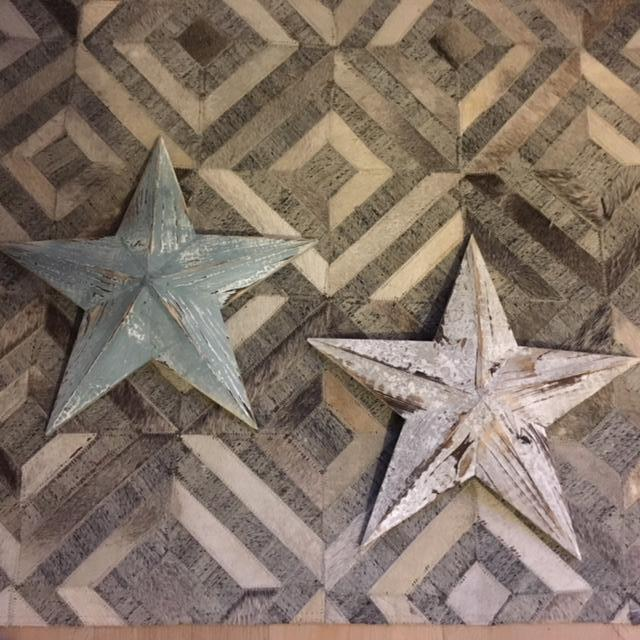 Wooden Barn Stars with Distressed Finish