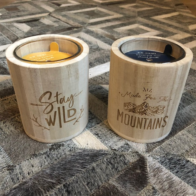 Log Cabin Style Wooden Candles
