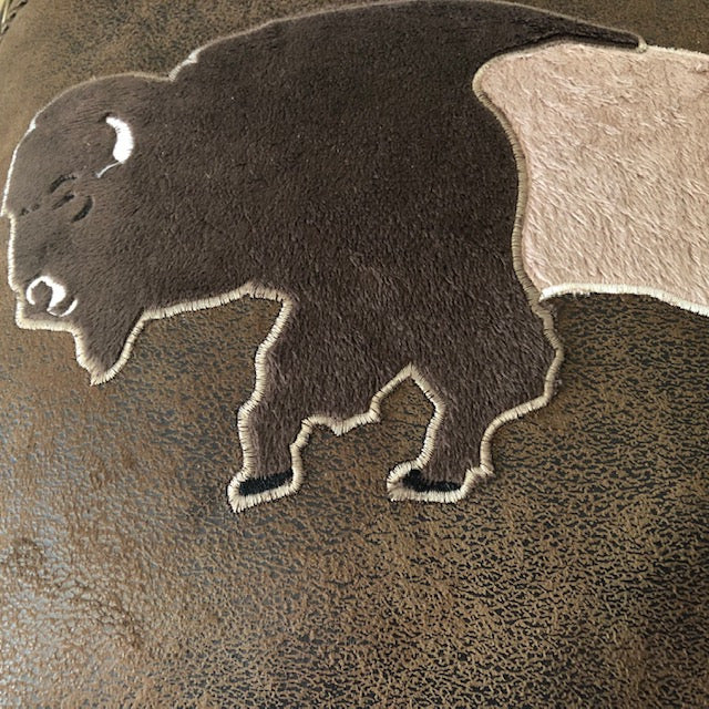 Plush Buffalo Design in Centre