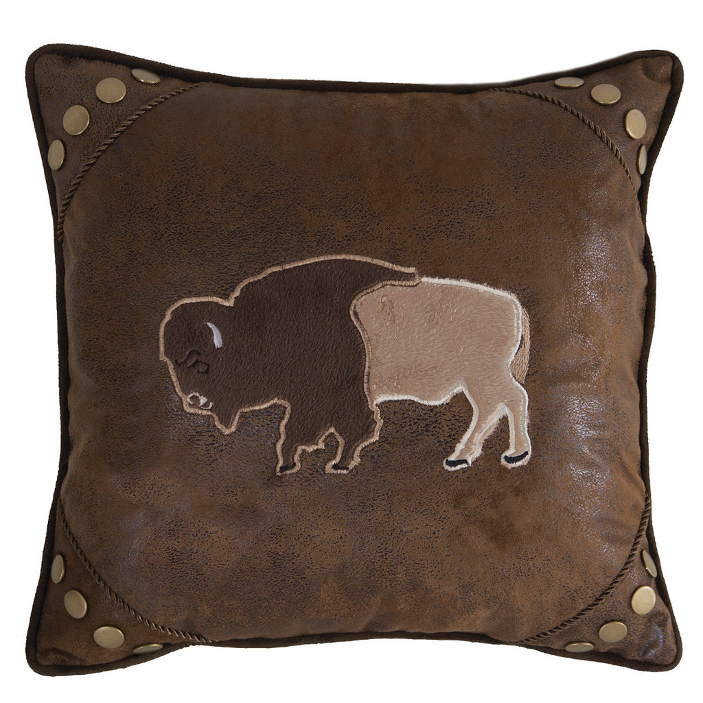 Wrangler Buffalo Faux Leather Cushion UK