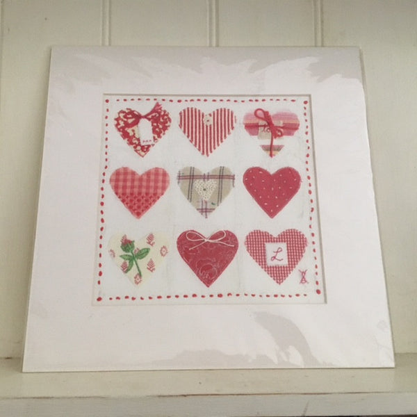 Heart Applique Print