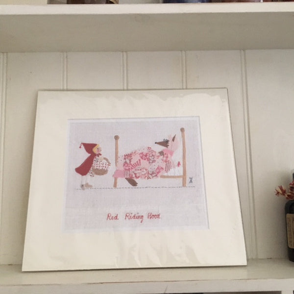 Little Red Riding Hood Stitchery Print