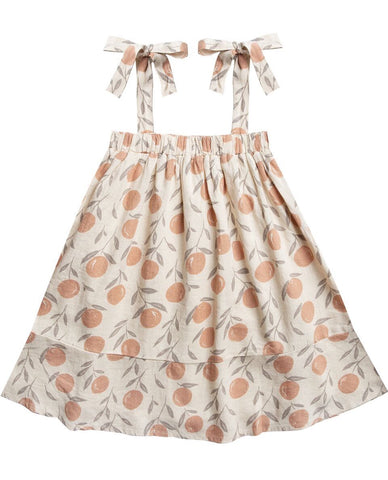 Peaches Shoulder Tie Dress