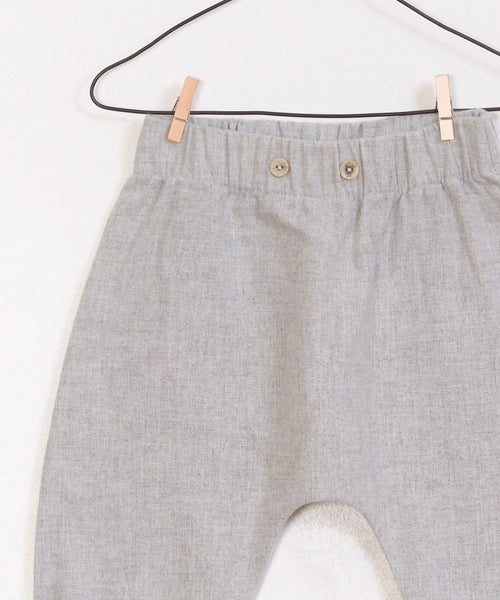 Heather Gray Woven Trousers