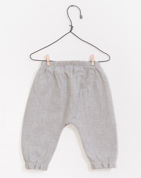 Heather Gray Ruffle Pants