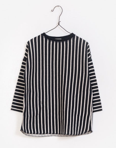 Black and White Vertical Striped Dress
