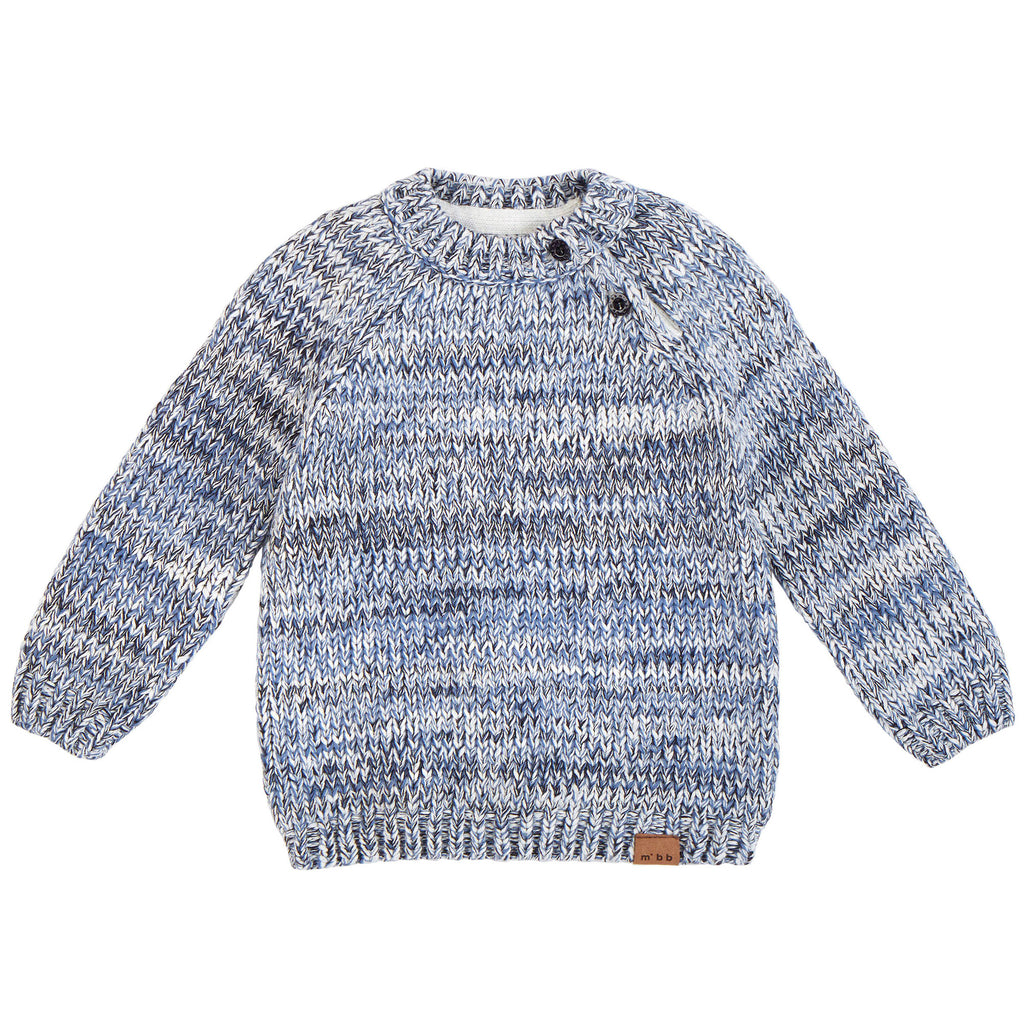 Pullover Sweater - Heather Blue