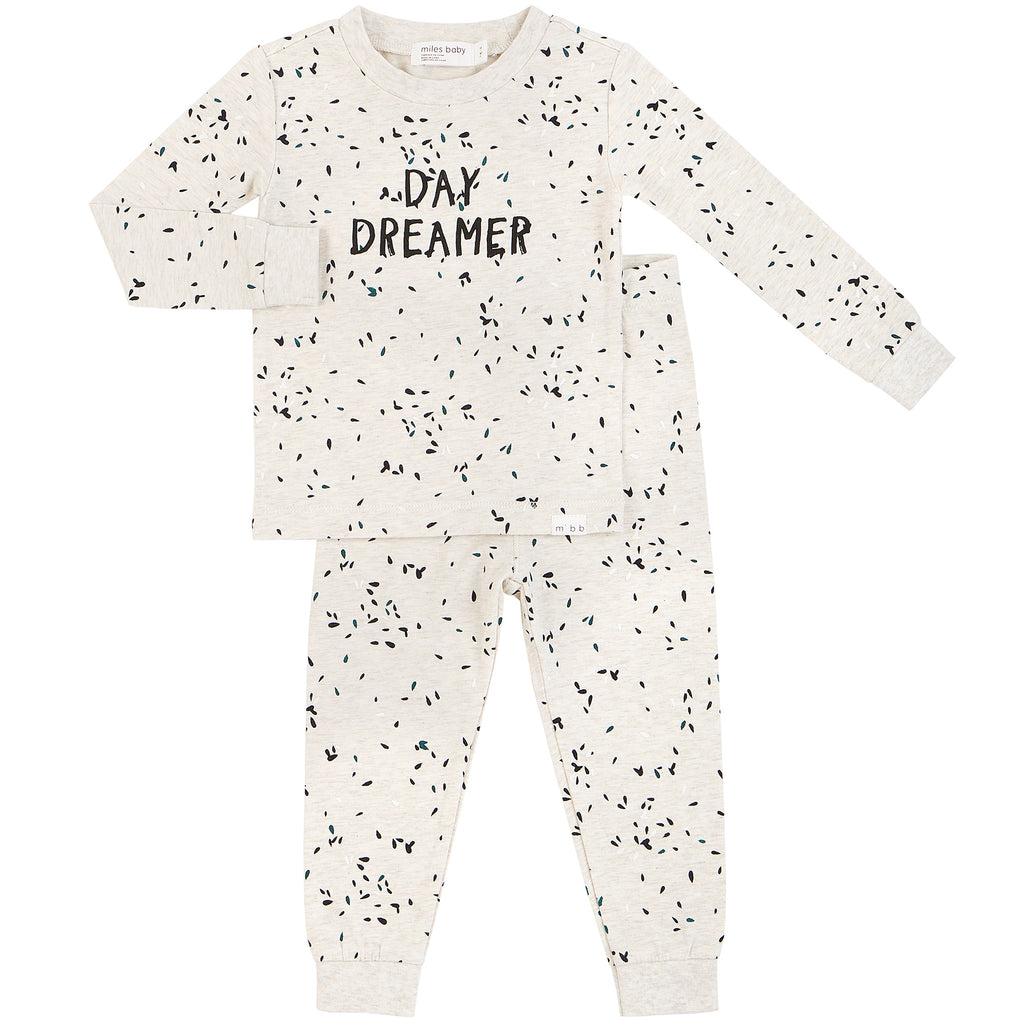 Daydreamer Pajama Set - Heather Beige