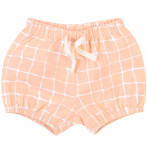 Peach Grid Shorts