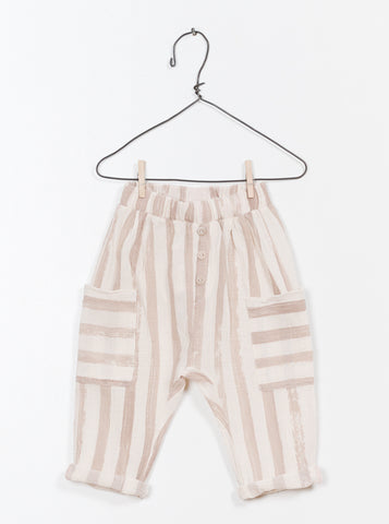 Taupe Stripe Pocket Pants