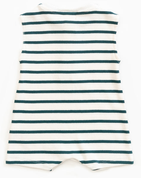 Old Glass Striped Tank Romper