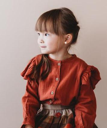 Honey Comb Frill Top