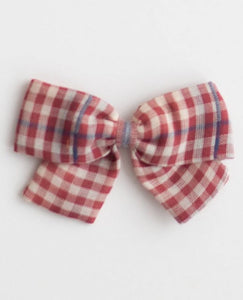 Big Bow Clip - Red Chex