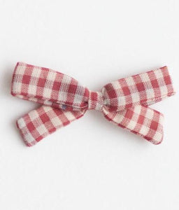 Little Bow Headband - Red Chex