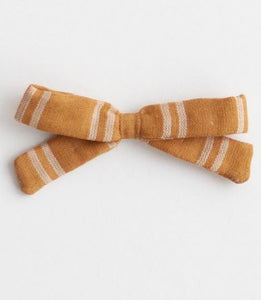 Little Bow Headband - Mustard Stripe