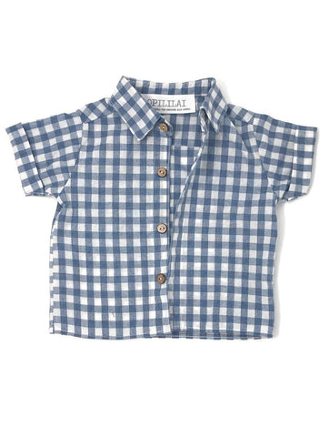 Blue Check Collared Shirt