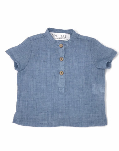Blue Summer Button Shirt