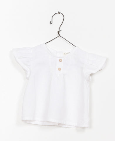 White Frill Shoulder Top