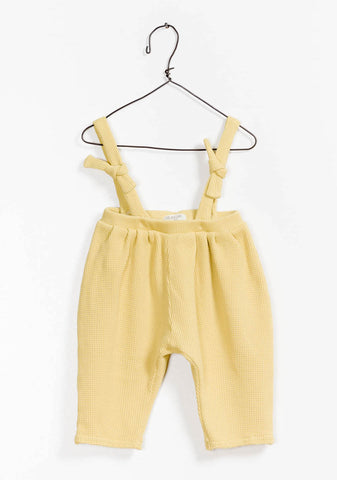 Yellow Knotted Overalls