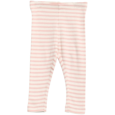 Ribbed Pink Stripe Leggings