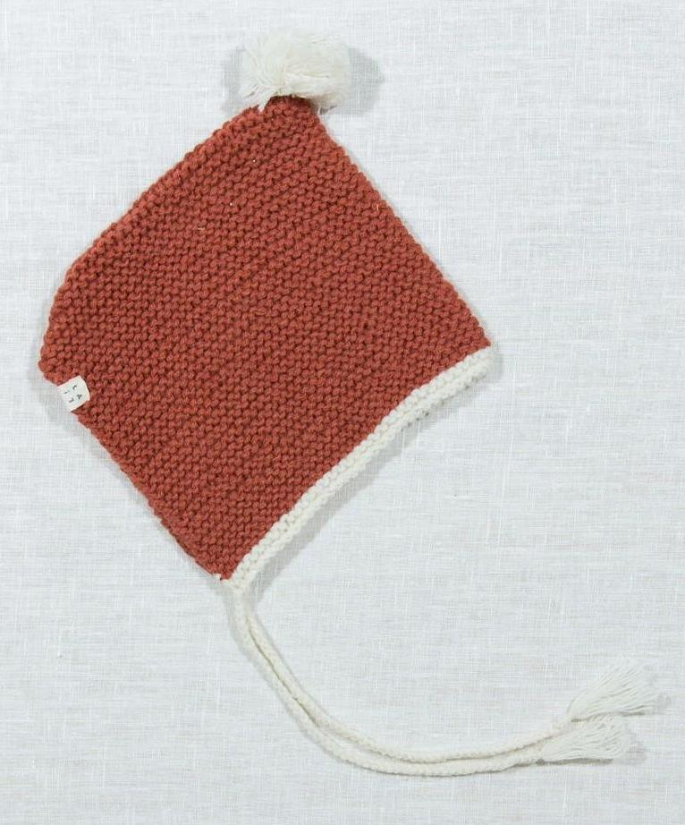 Baby Knit Hat - Rust